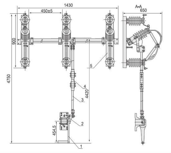 China (RH-B-11/33KV) Outdoor Gang Isolator Switch/Air