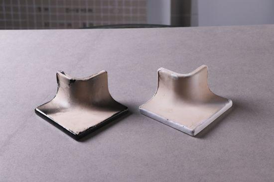 white black ceramic tile trim corner edge curved tile bullnose tiles brick tile accessories