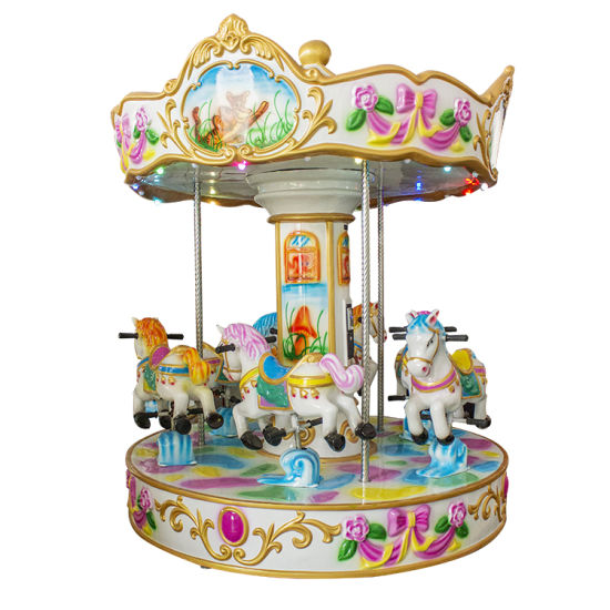 Kids Game Outdoor Christmas Carousel Decoration Inflatable Horses