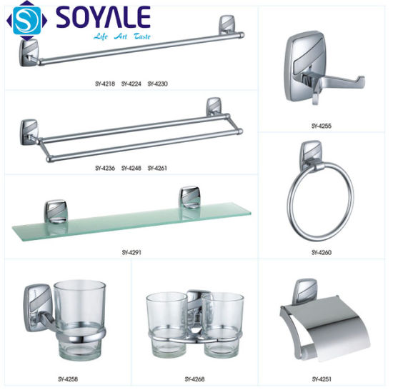 Zinc Alloy Bathroom Accessories Set With Chrome Finishing Item No Sy 4400 Series China Towel Hook Towel Ring Made In China Com