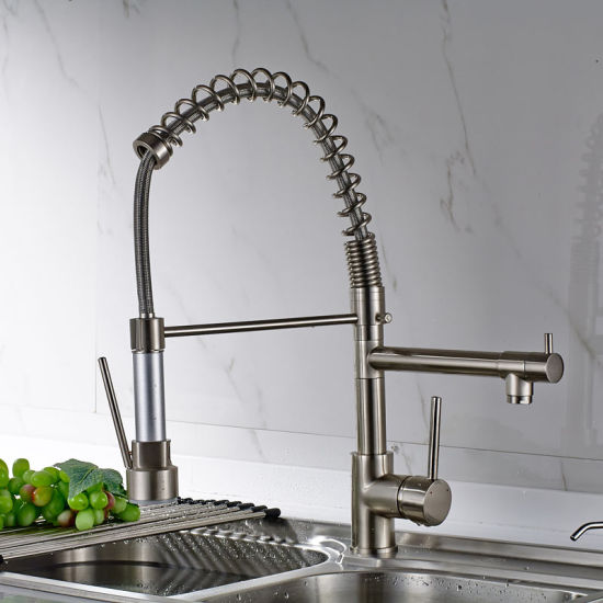 led kitchen faucet ikea stainless steel shelves for china flg with pull down vessel sink tap mixer
