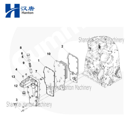 China Cummins diesel truck engine motor QSB6.7 parts