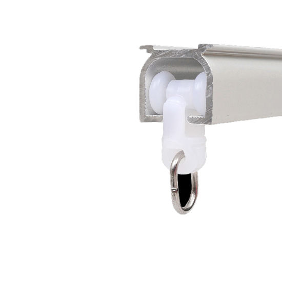 hotel aluminium curtain track with ceiling or wall mounting and with pulley system