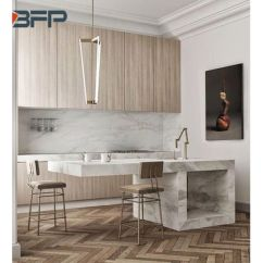 End Kitchen Cabinet What To Use Clean Cabinets China Modern High Wood Grain Hpl Laminate Bmk 91