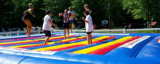 inflatable jumping pillow for outdoor