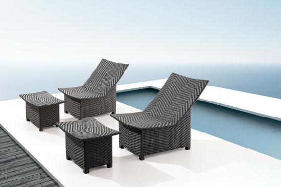 outdoor chaise lounge chair with ottoman phil and teds lobster high china black rattan