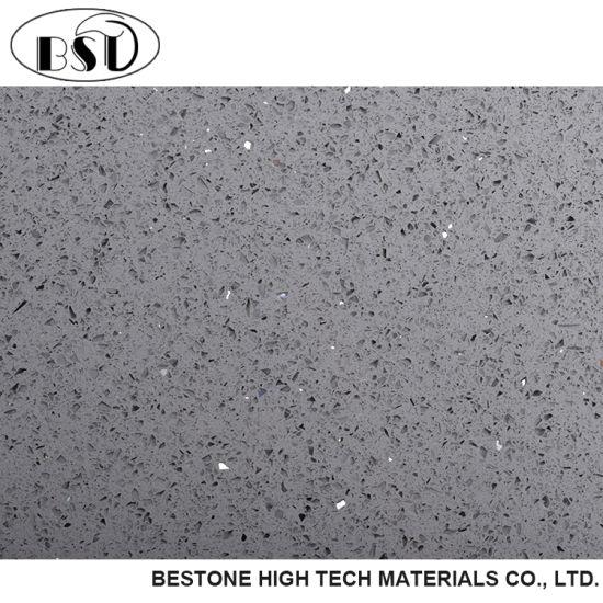 china gray sparkle quartz floor tile