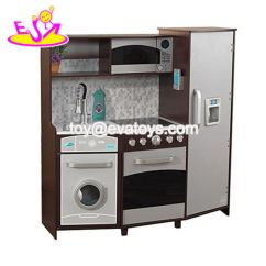 Wooden Toy Kitchen Pantry Cabinets For China New Hottest Espresso Big Kids Playing And Learning W10c360
