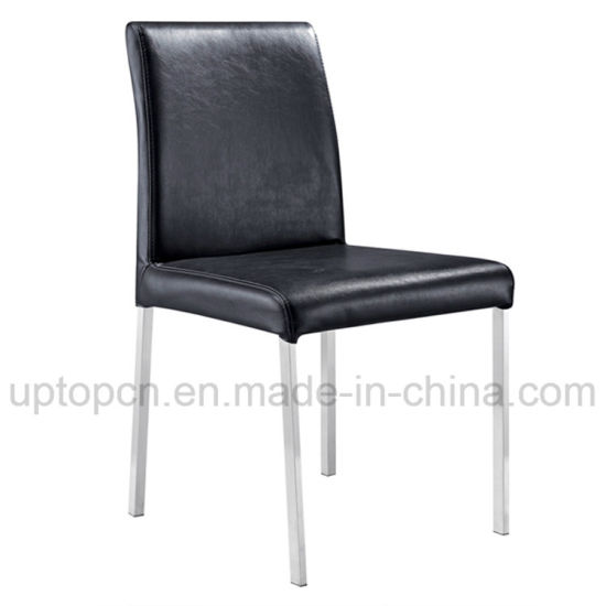 chair steel legs 2 chairs china commercial black leather with stainless sp lc242 pictures photos