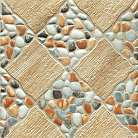 16x16 stone look ceramic floor tile