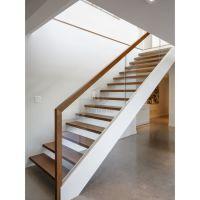 China Modern Wood Handrail Glass Railing Wooden Steps ...