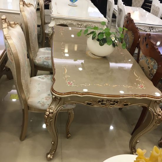 China Competitive Gold Dining Table And Chair Set Dining Room Furniture China Dining Furniture Dining Table And Chair
