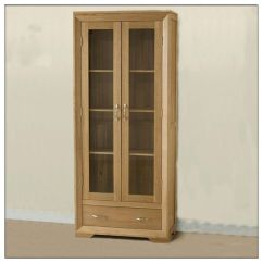 Living Room Glass Display Cabinets Best Neutral Paint Colors For Small China Solid Oak Cabinet Wooden Furniture