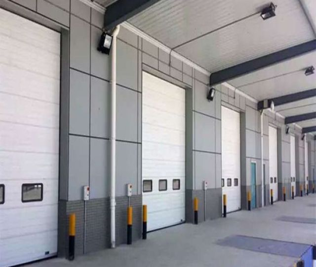 Industrial Sectional Door Fire Door Automatic Roll Up Shutter Door Hf