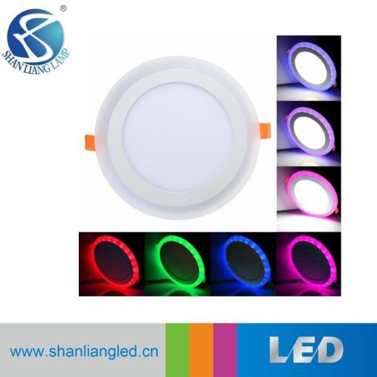 18 6w double panneau led couleur lampe