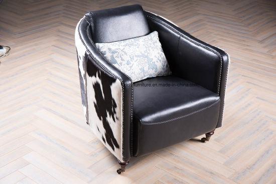 meubles moderne vintage pony peau