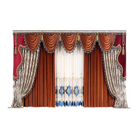 chine rideaux jacquard tissu pour