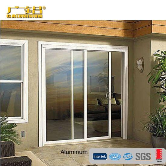china panel de vidrio de doble puerta
