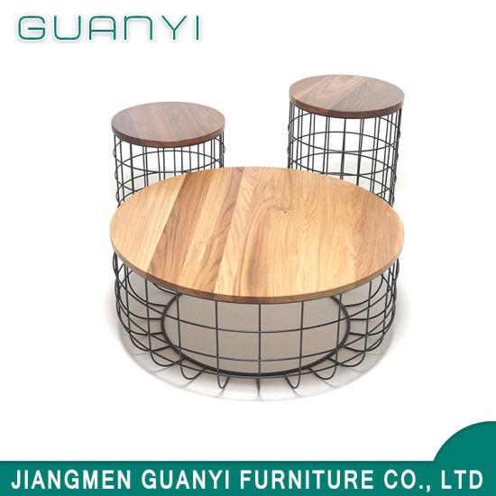 bois metal cafa table