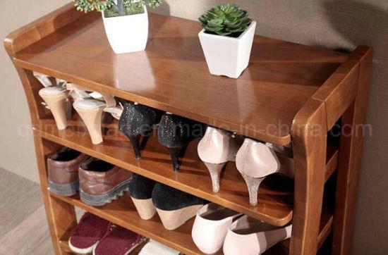chine tabouret en bois massif salon