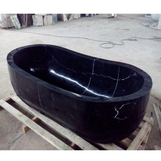 pierre hottubs baignoire en marbre noir