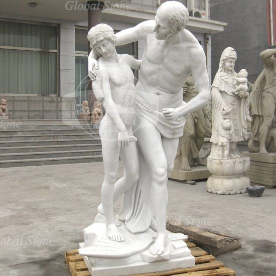 chine marbre naturel en jardin sculptes