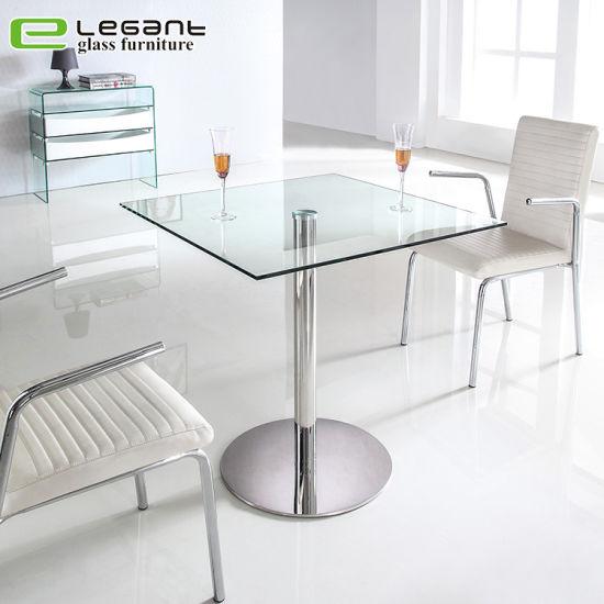 chine le verre trempe bar moderne table