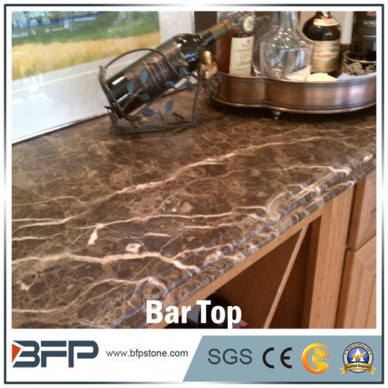 cuisine moderne paillasse bar en marbre