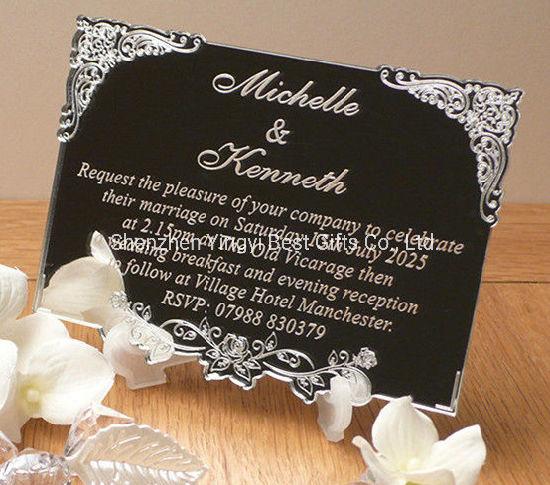 mariage mariage en plexiglas souveni