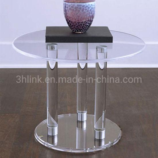 chine cristal clair acrylique table a