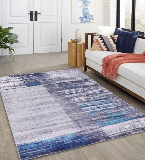 chine tapis bleu villa tapis et