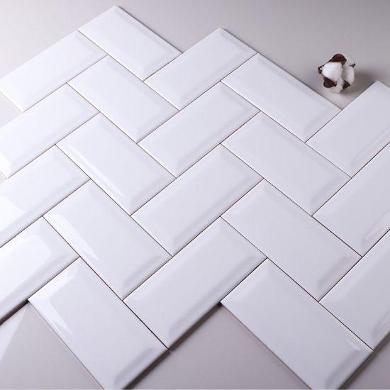 chine 3 x6 7 5x15cm blanc brillant