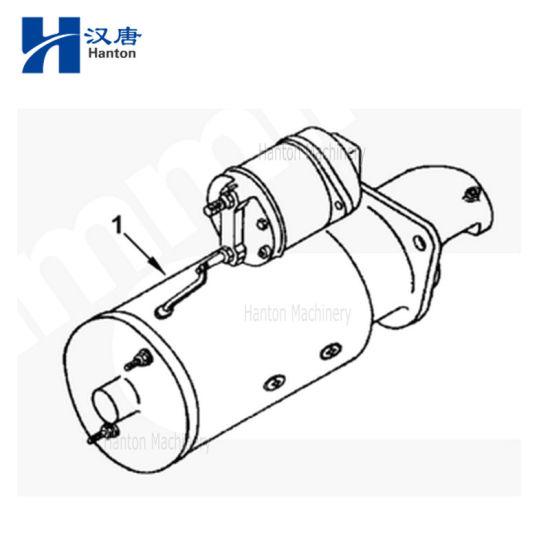 China A Cummins auto motor diesel 6BT motor de arranque