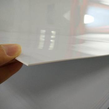 chine feuille en pvc brillant blanc