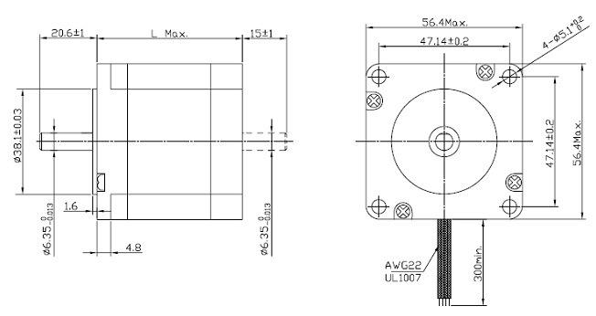 China Automatic NEMA 23 1.8 Degree 2 Phase Hybrid Stepper