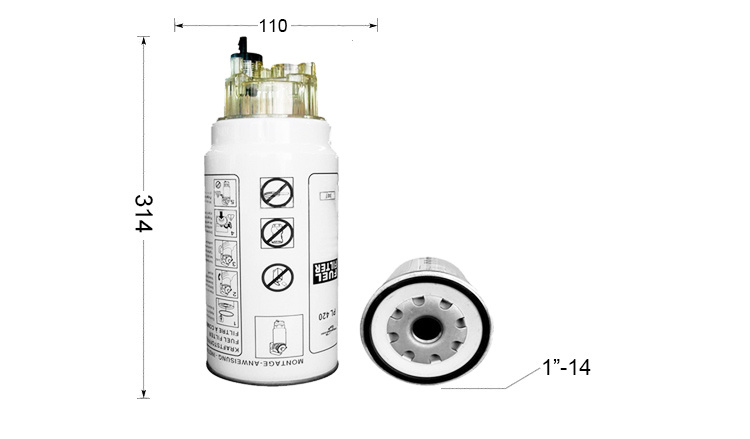 China Auto Truck Parts Diesel Fuel Filter for Daf Engine