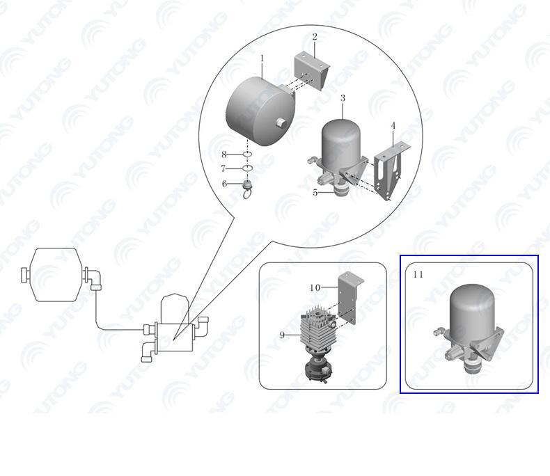 China Original Auto Filter Wabco Air Drier 4324102227 for
