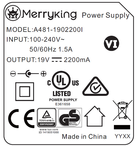 China 36W/48W Interchangeable AC DC Adapter Free Samples