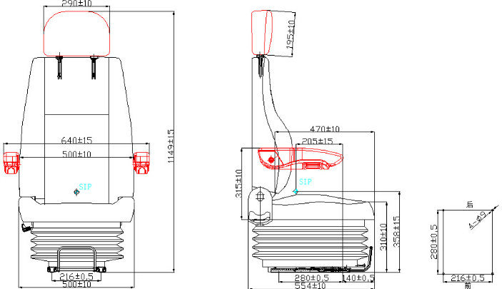 China Luxury Pneumatic Suspension Universal Crane Operator