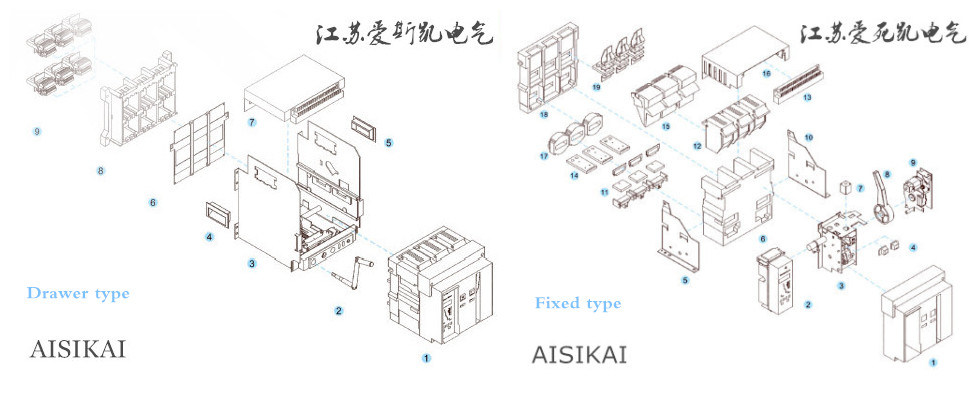 China Acb 1000A Aisikai 3p Fixed Type&Drawer Type Air