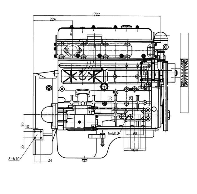 China QC4102D Multi-Cylinder Lister Petter Diesel Engines