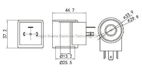 China Inside Diameter 13mm High 37mm Hydraulic Solenoid