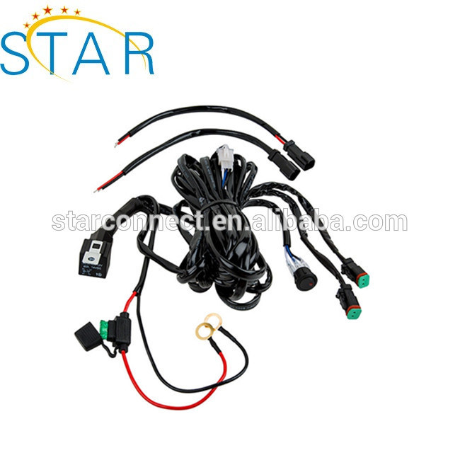 China High Quality LED Light Bar Wire Harness with Relay