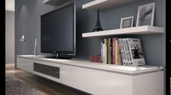 modernes simples mdf meuble tv led