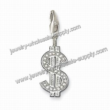 China Sterling Silver Pendant With Dollar Symbol (TSPD102