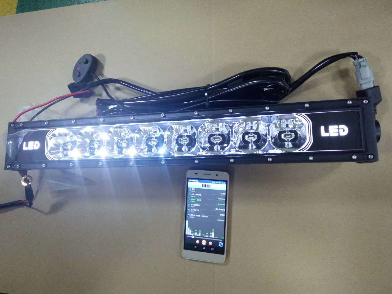 hight resolution of 22 120w rgb led light bar 7d work lamp bluetooth app wire harness led light bar