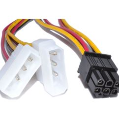 china 6 pin pci express to 2x 3 pin molex power adapter cable china molex cable video card cable [ 1000 x 1000 Pixel ]
