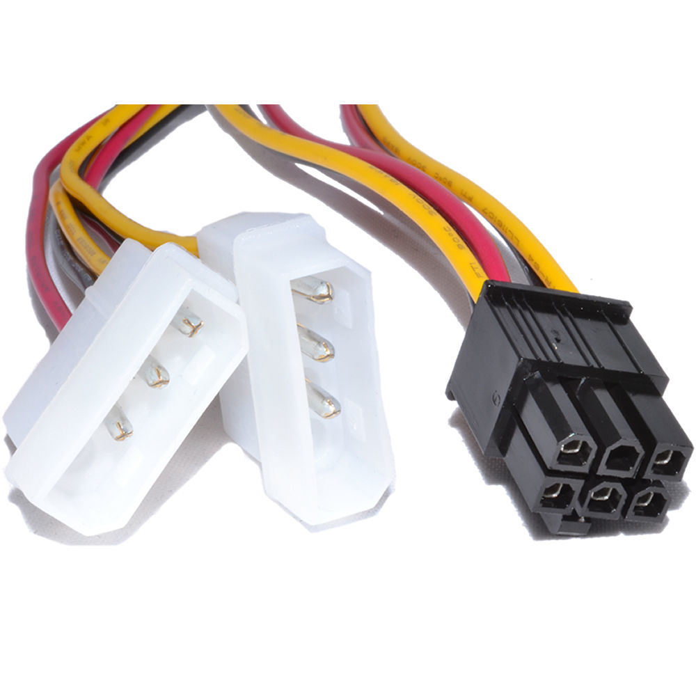 hight resolution of china 6 pin pci express to 2x 3 pin molex power adapter cable china molex cable video card cable