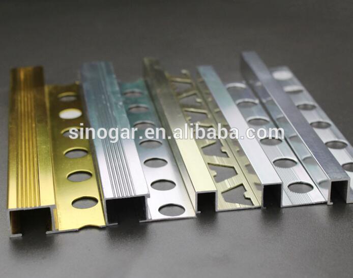 hot item straight edge aluminum tile trim for ceramic tile