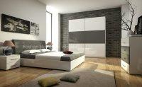 China Modern Wooden Furniture Bedroom Set (HF